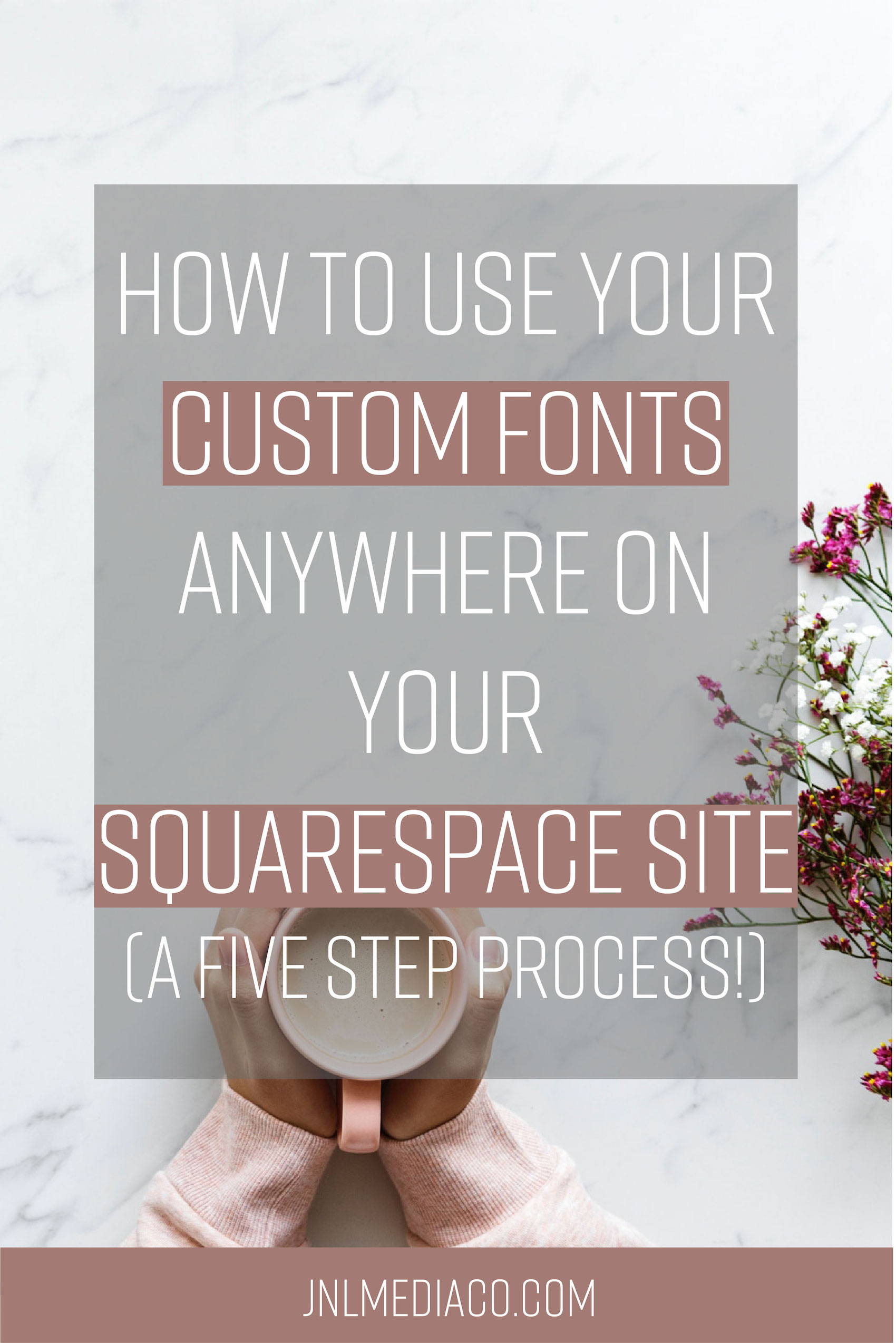 Learn how to use your custom fonts anywhere on your squarespace site in five steps.