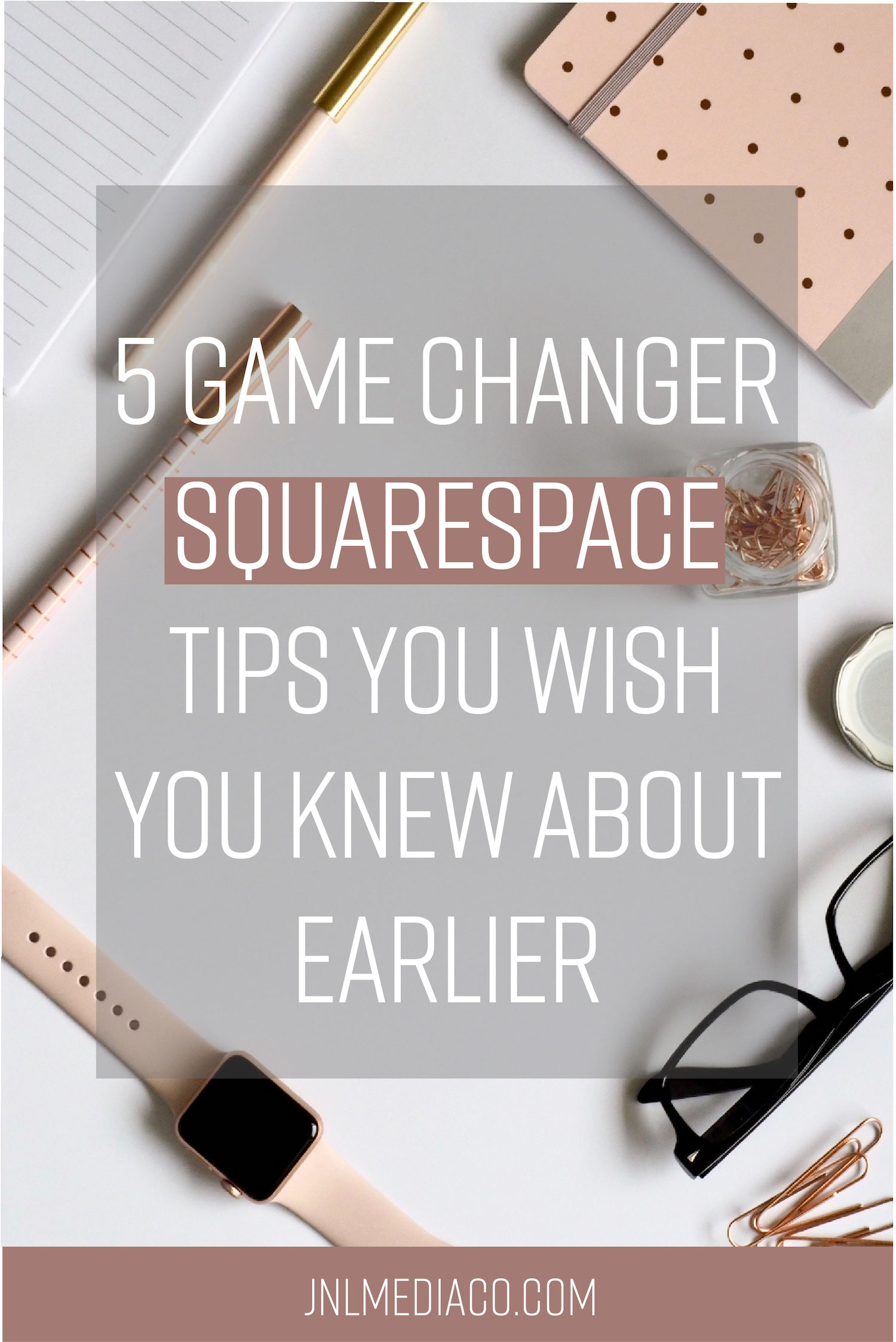 There is so much you can do with Squarespace but some things aren't as obvious as others! I put together a list of five Squarespace tips to help you customize your site and save you time. Don't forget to re-pin if you find it helpful!