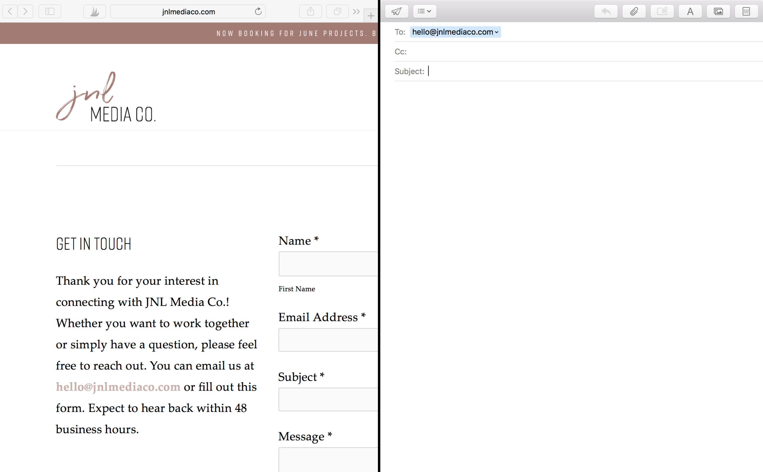 Clickable email address in Squarespace