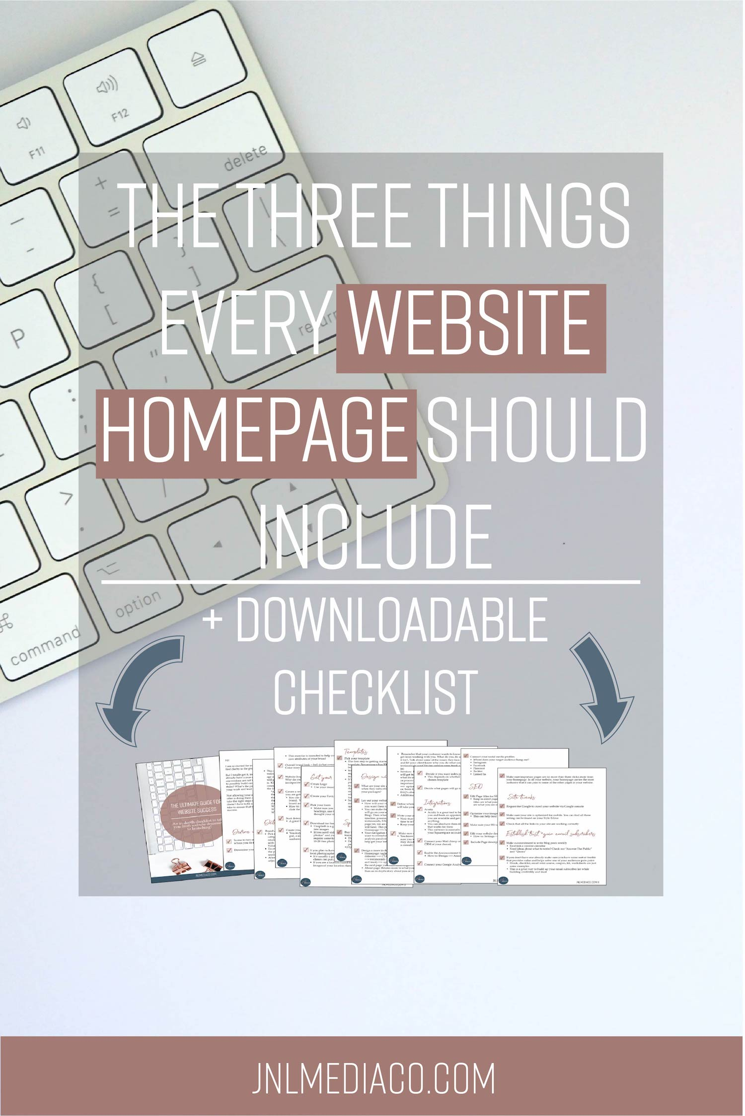Your homepage is the first thing people see when they land on your site so it's super important you include the right type of information. So what exactly makes for an effective homepage website? Read the full post and don't forget to download my free website success checklist!