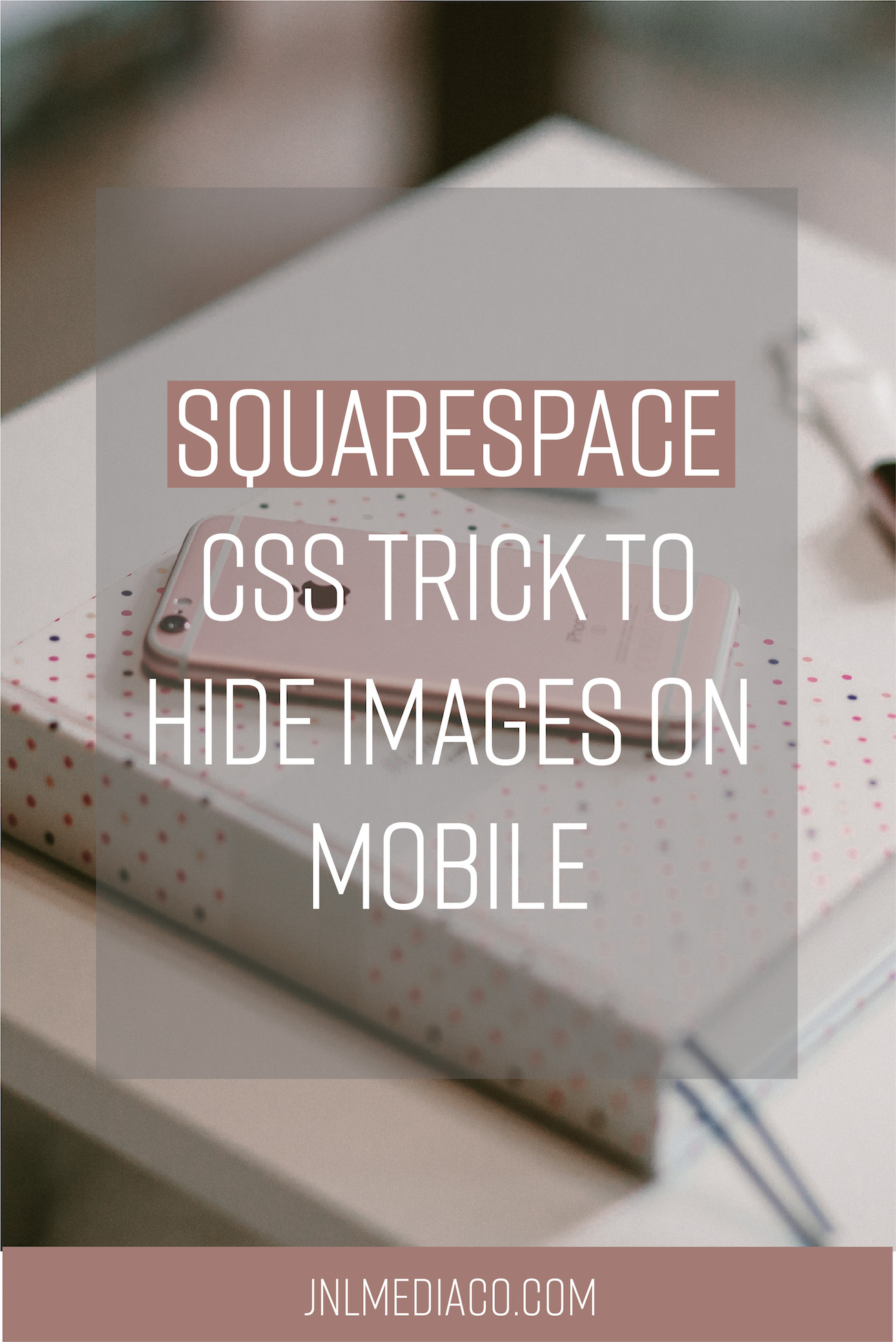 Fact is that most people nowadays visit your website on their phones only, since phones nowadays are basically mini pocket sized computers. Different sized screens mean that your website will look different across devices so it's important to make sure your website looks great on all devices. Learn how to hide images from mobile through Custom CSS & a chrome extension #squarespacetips