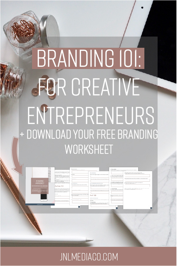 A logo and color palette is the most visual representation of your brand but so much goes into developing your brand even before the first logo sketch. So what does branding mean to you as a creative entrepreneur? #brandingtips