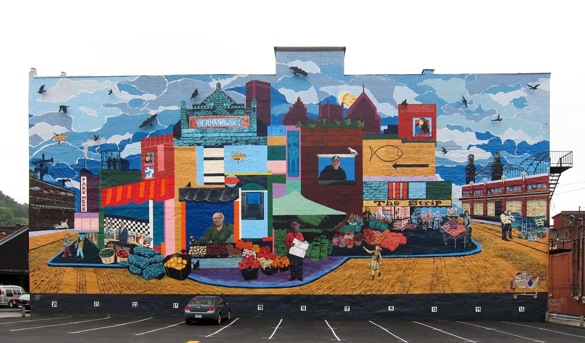 Strip District Pittsburgh Mural