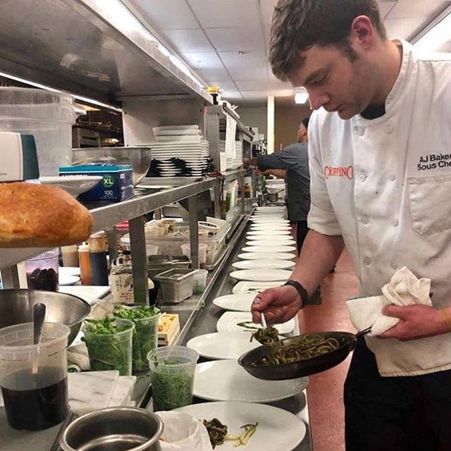Behind the scenes of @cioppinopgh, courtesy of @chefajbaker 🙌