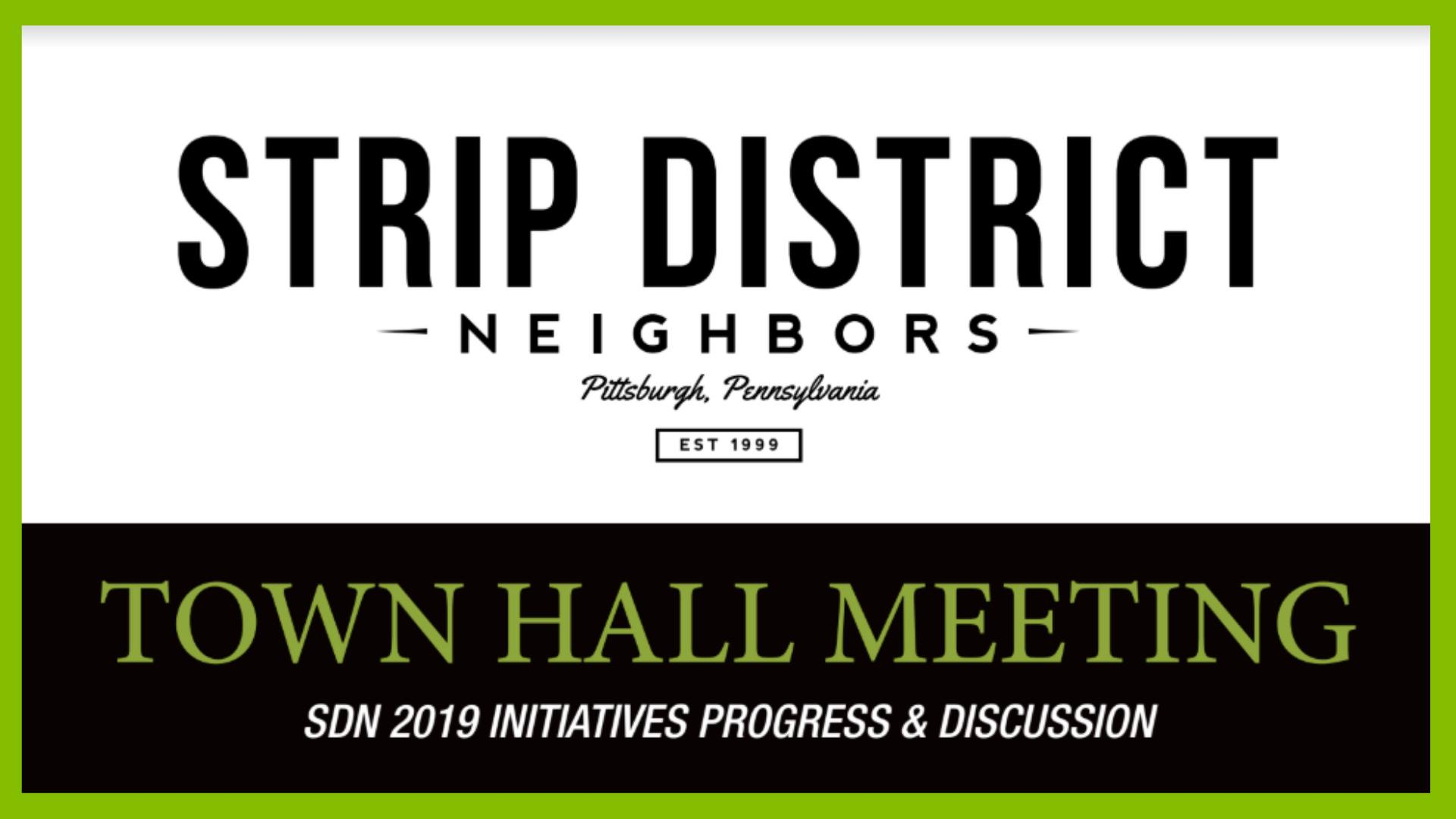 Strip District Neighbors Town Hall Meeting Pittsburgh
