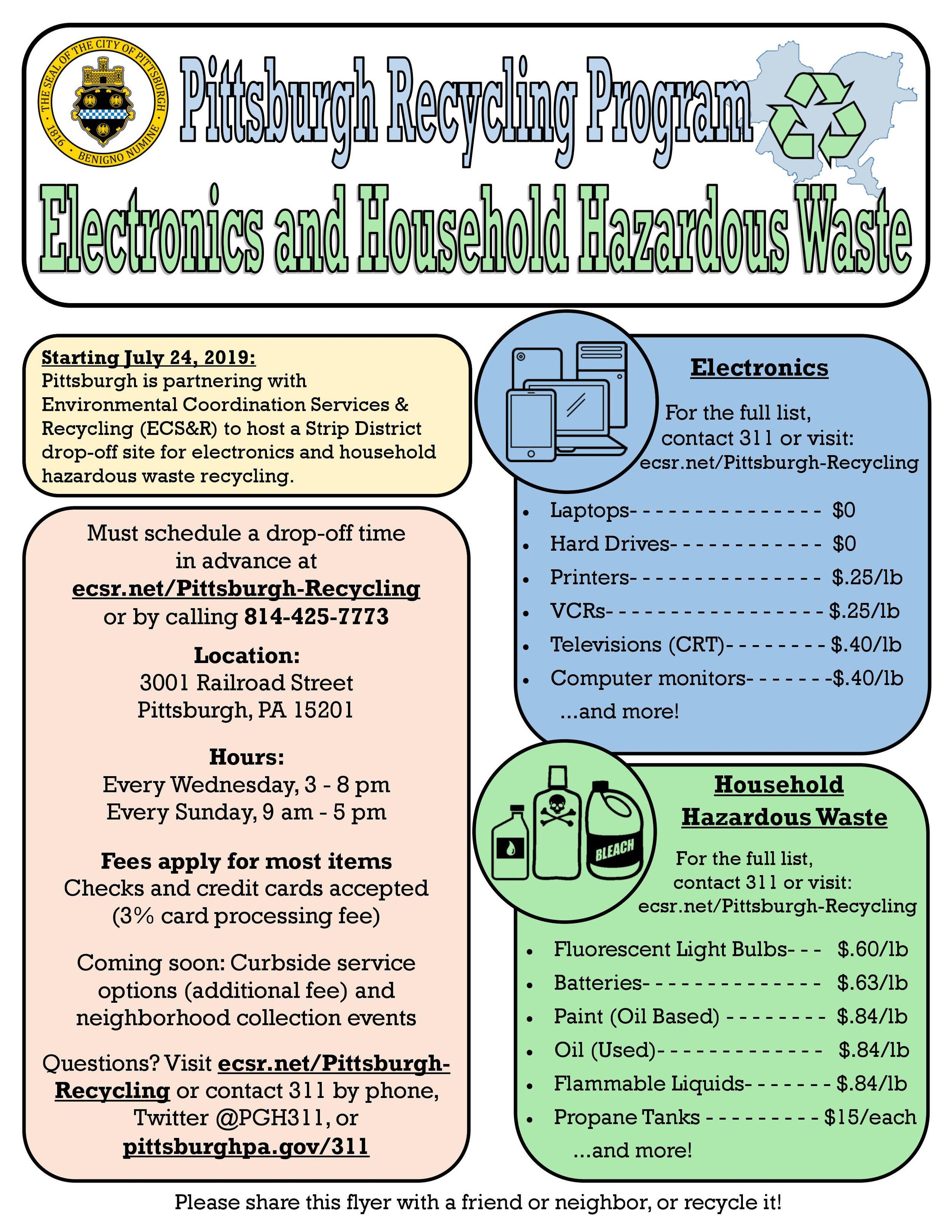 City of Pittsburgh Hazardous Electronic Waste Recycling Program Strip District.jpg