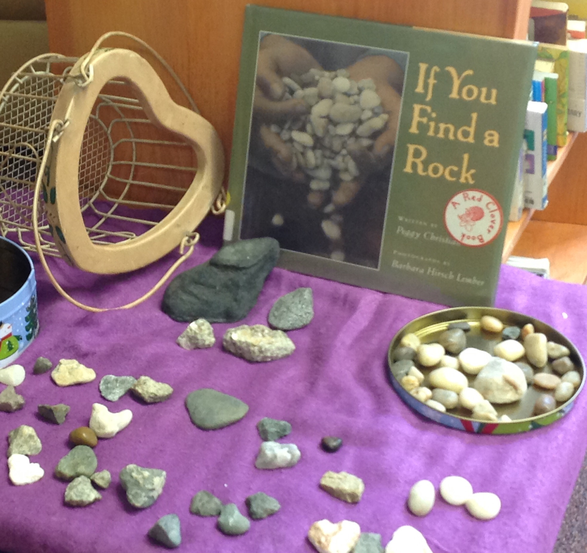 """Our """"find a heart-shaped rock project."""