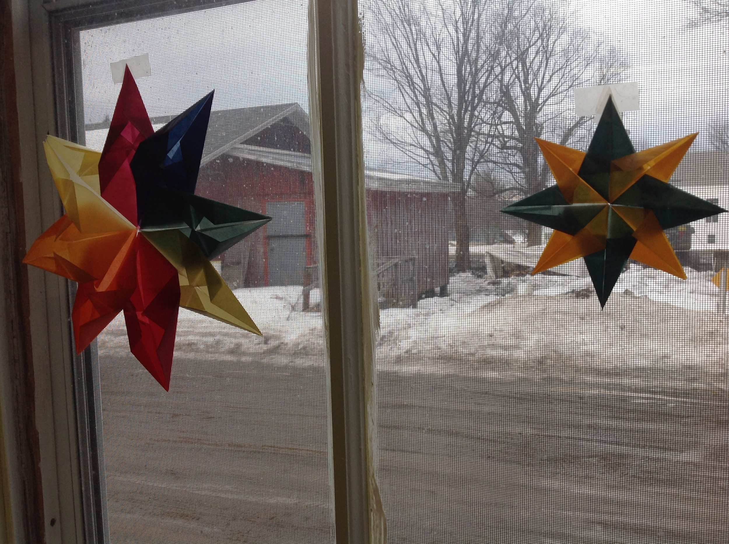 Bethlehem stars created at one of our many workshops.