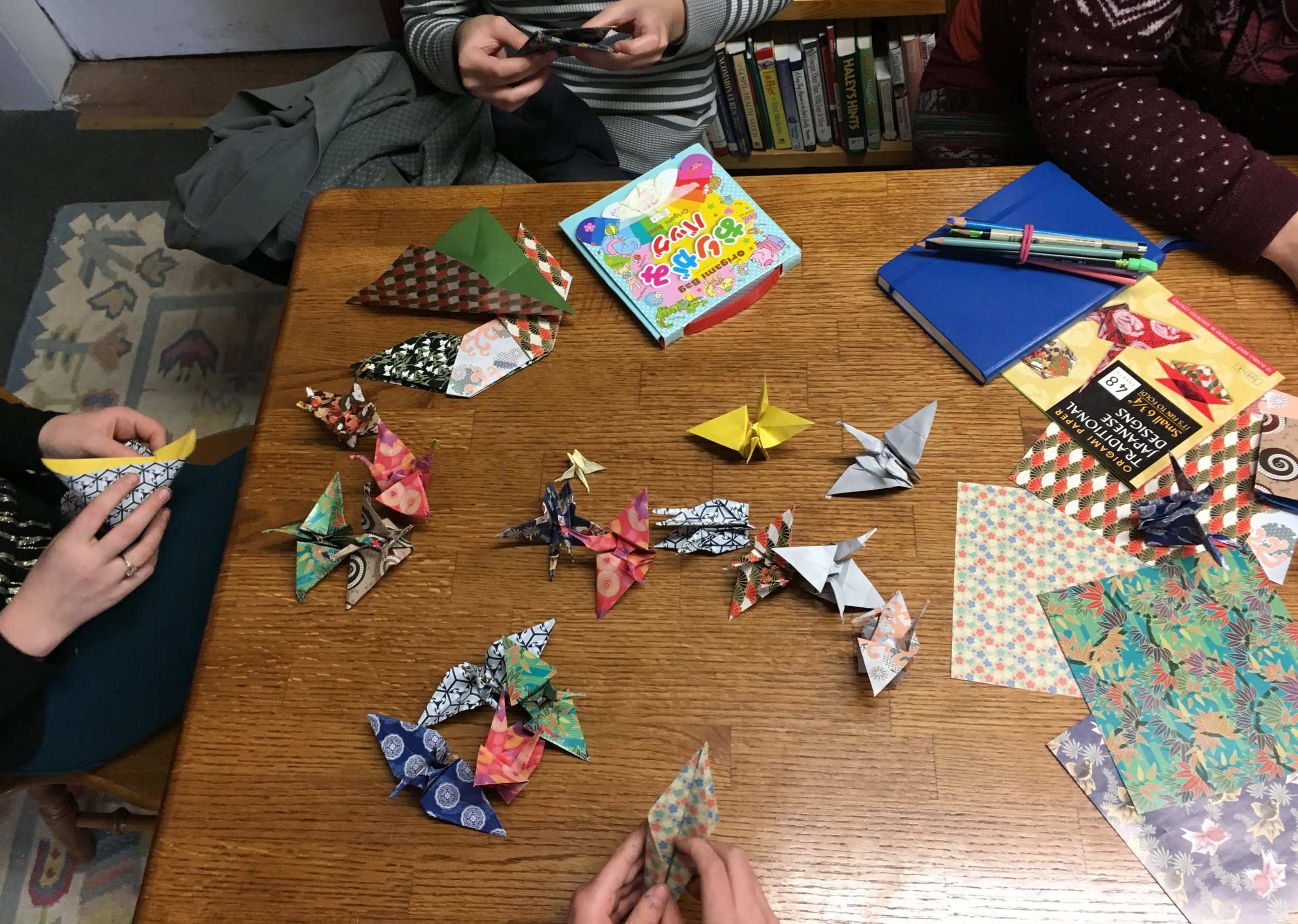 origami workshop, january 2018