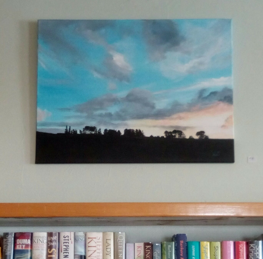 Painting by albany artist judy lowry, displayed in our library gallery