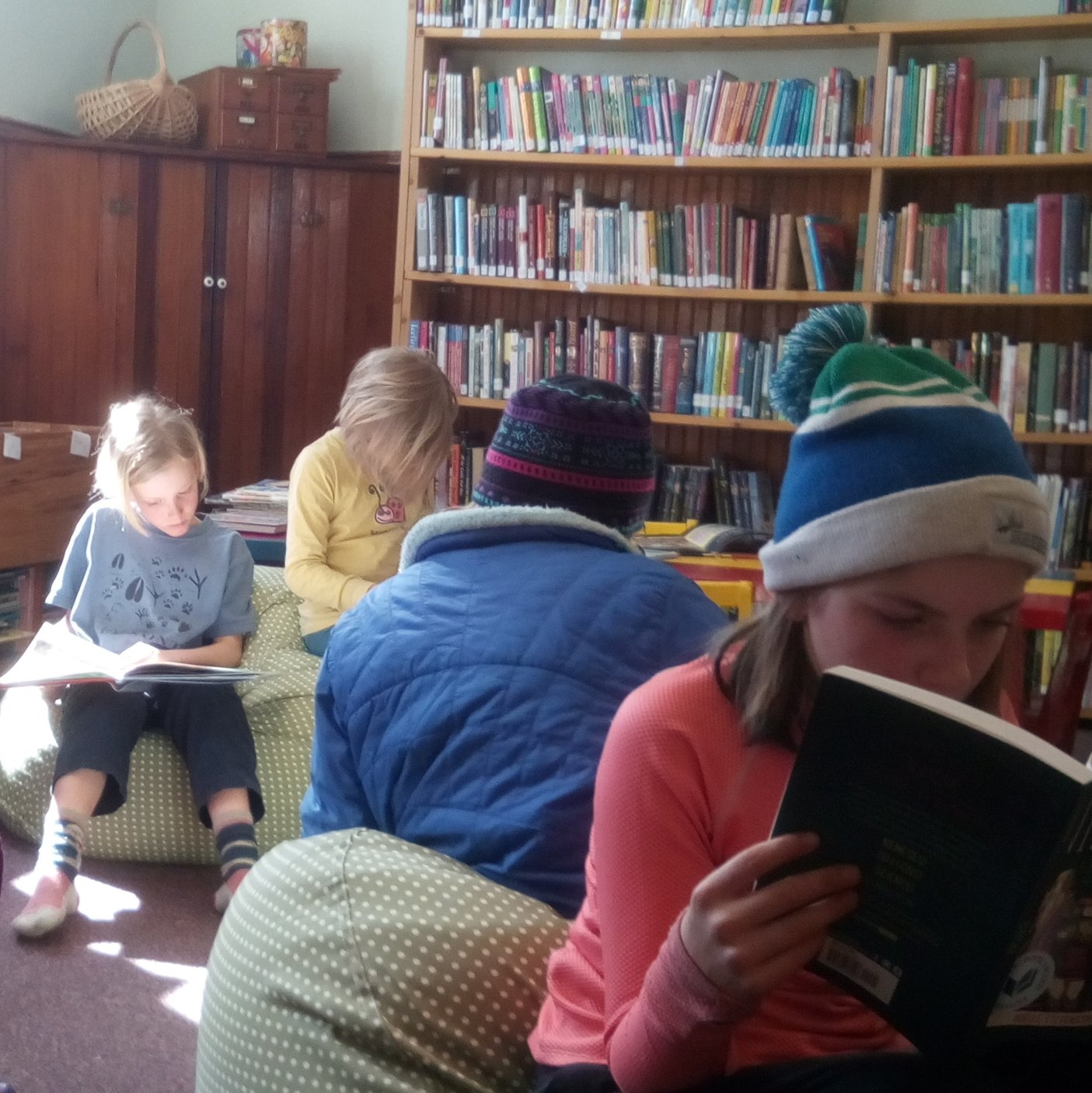 After school library time.
