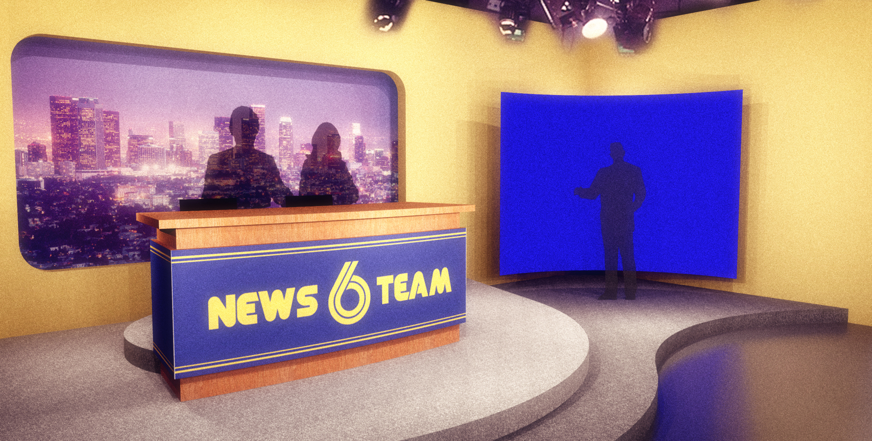 NEWS TEAM SIX, NEWS CAMERA VIEW - 3D RENDERING