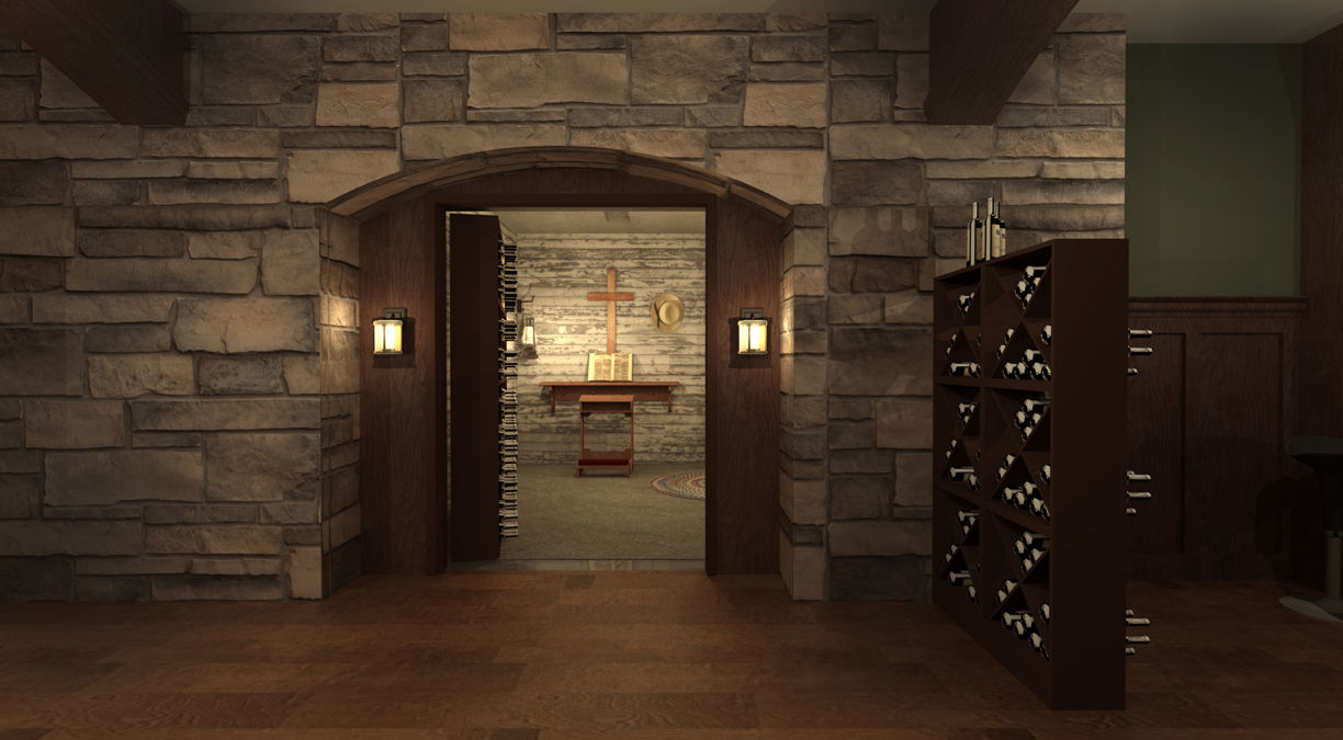 PROCTOR'S SECRET ROOM - 3D RENDERING
