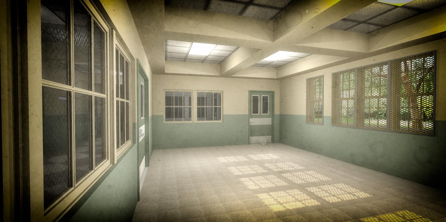 TARRYTOWN PSYCHIATRIC HOSPITAL (RECREATION ROOM)- 3D RENDERING