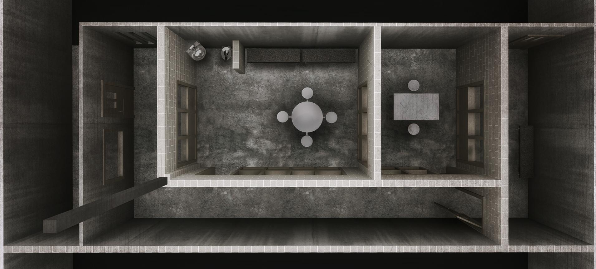 PRISON VISITATION ROOM - 3D RENDERED PLAN