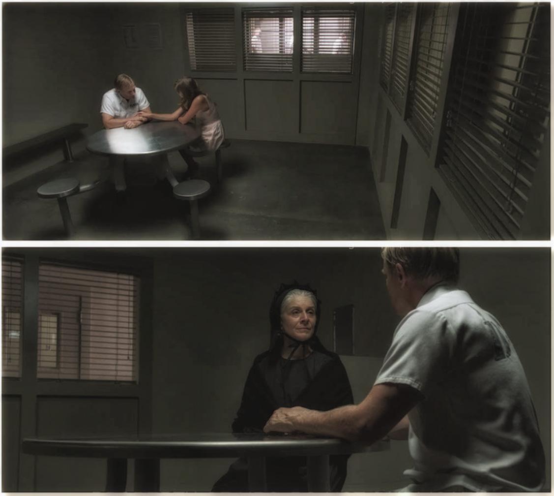 PRISON VISITATION ROOM - PRODUCTION STILLS