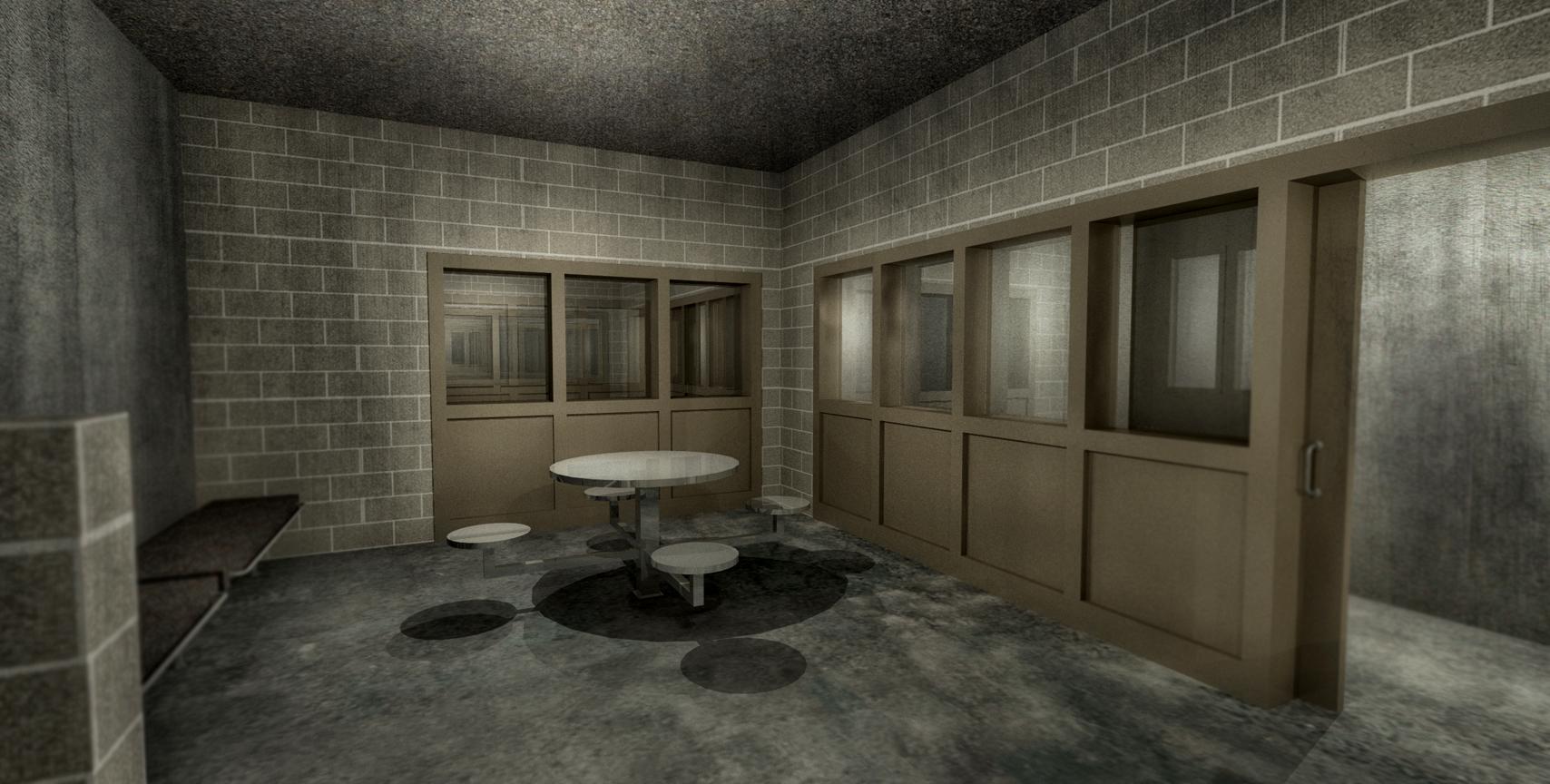 PRISON VISITATION ROOM - 3D RENDERING