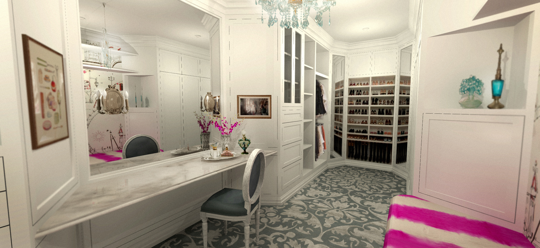 MASTER BEDROOM CLOSET - RENDERING