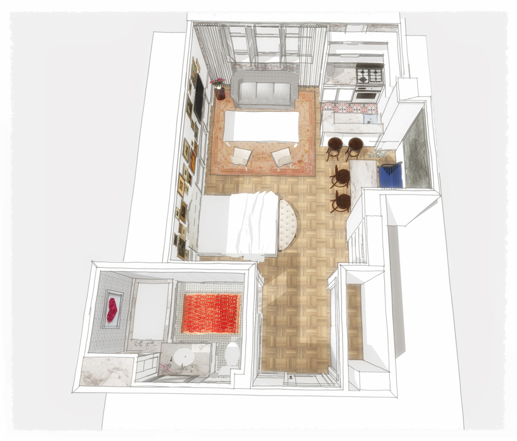 LOFT PLAN - BIRD'S EYE VIEW