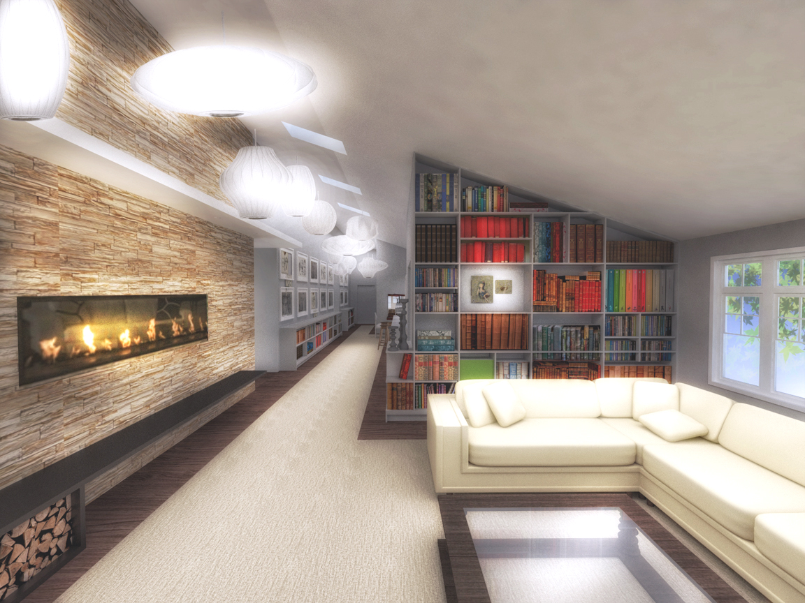 LIVING ROOM - RENDERING