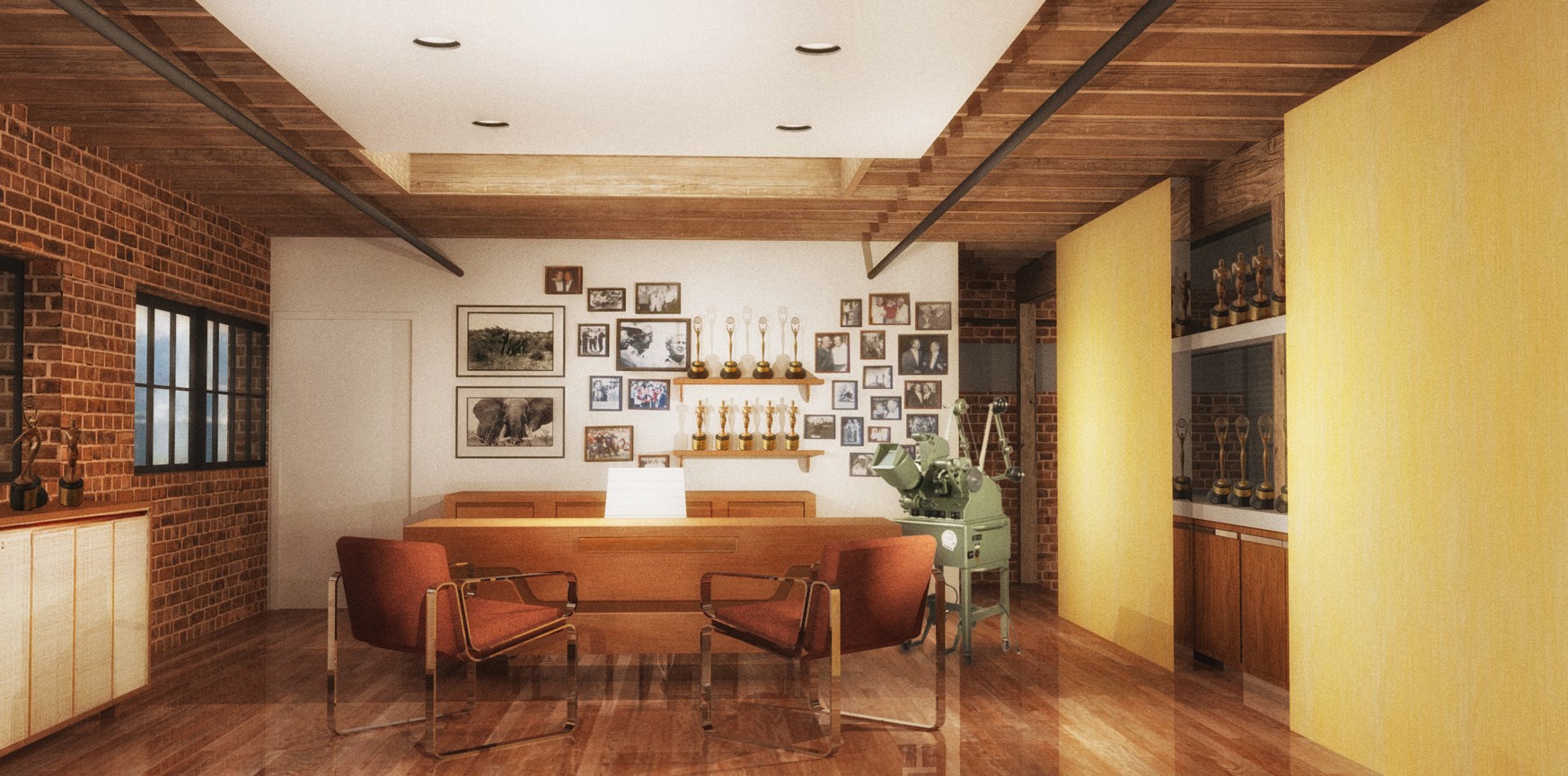 BILL HONEYMAN'S OFFICE - RENDERING