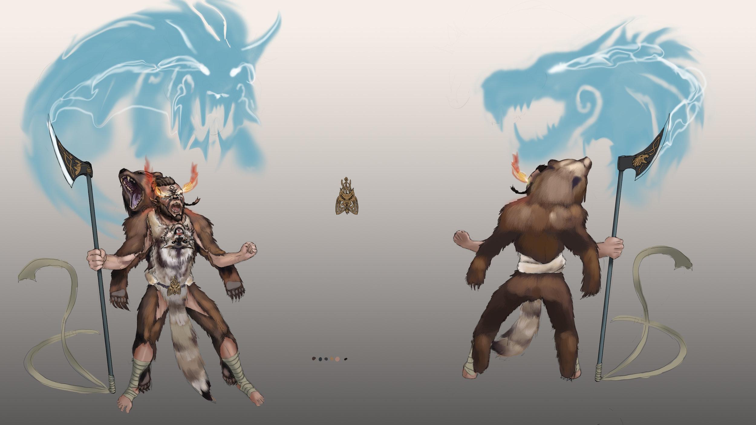 Vali the Norse Berserker