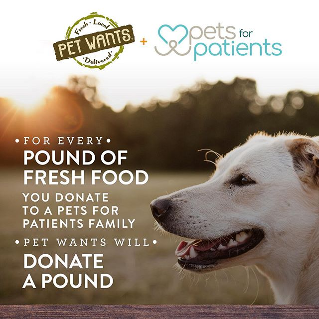 In July, donate a pound of food to Pets for Patients through @petwantscincy, and they will match it! 🐶 Thank you to Pet Wants (Findlay Market and OTR locations) and all of our supporters for helping us help our families ❤️ • • • #petsforpatients #petwants #petwantscincy #nonprofitorganizations #naturaldogfood #companiondog #mydogismytherapy #lovemelovemydog #oneforone #buyonedonateone #dogfooddelivered @overtherhine @findlaymarket
