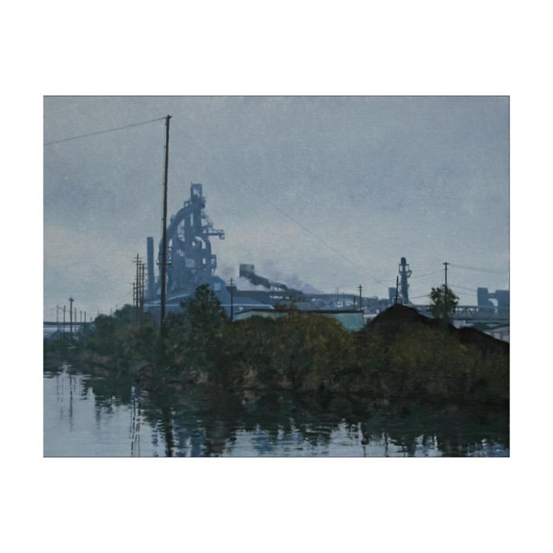 Landscape in Blue & Grey