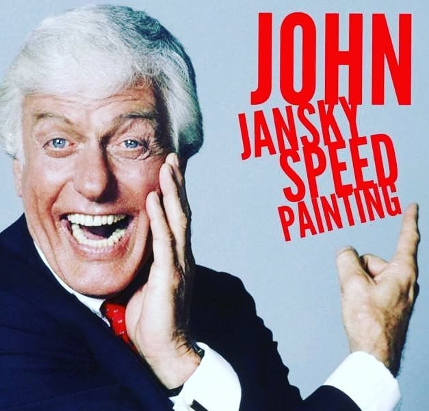 In case you hadn't heard, take it from @official_dick_van_dyke: Über-talented local speedpainter @john_jansky will be gracing the Main Stage at 1:00 p.m. Sunday, June 23rd! Go here for full schedule details: www.aitpdanville.org/schedule  #AITP31 #ArtsInThePark #Danville #Illinois #VermilionCounty #artfestival #dickvandyke #johnjansky