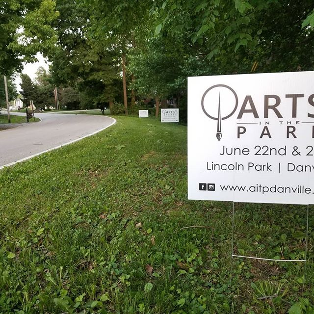 You're going to start seeing these pop up all over the place! Getting the hint yet? We want to see your bright, shiny faces at Arts in the Park! #AITP31 #Danville #Illinois #VermilionCounty #art #festival #artfestival