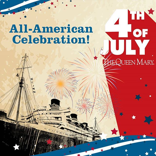 Bring the entire family aboard the Queen Mary for an All-American Fourth of July celebration! The Queen Mary will have an array of live entertainment, family games, arts & crafts, and special historic tours. There will be musical perfomances throughout the decks of the ship from 3-10pm. Their event sells out each year, so purchase your tickets early! For more info, visit the link, http://bit.ly/AllAmerican4thofJuly . . . #travelingkeysoc #queenmary #fourthofjuly #usa #freedom #livemusic #singalong #pianobar #pianos #summer #visitcalifornia #visitlb #visitoc #losangeles #orangecounty #american #fireworks #celebration