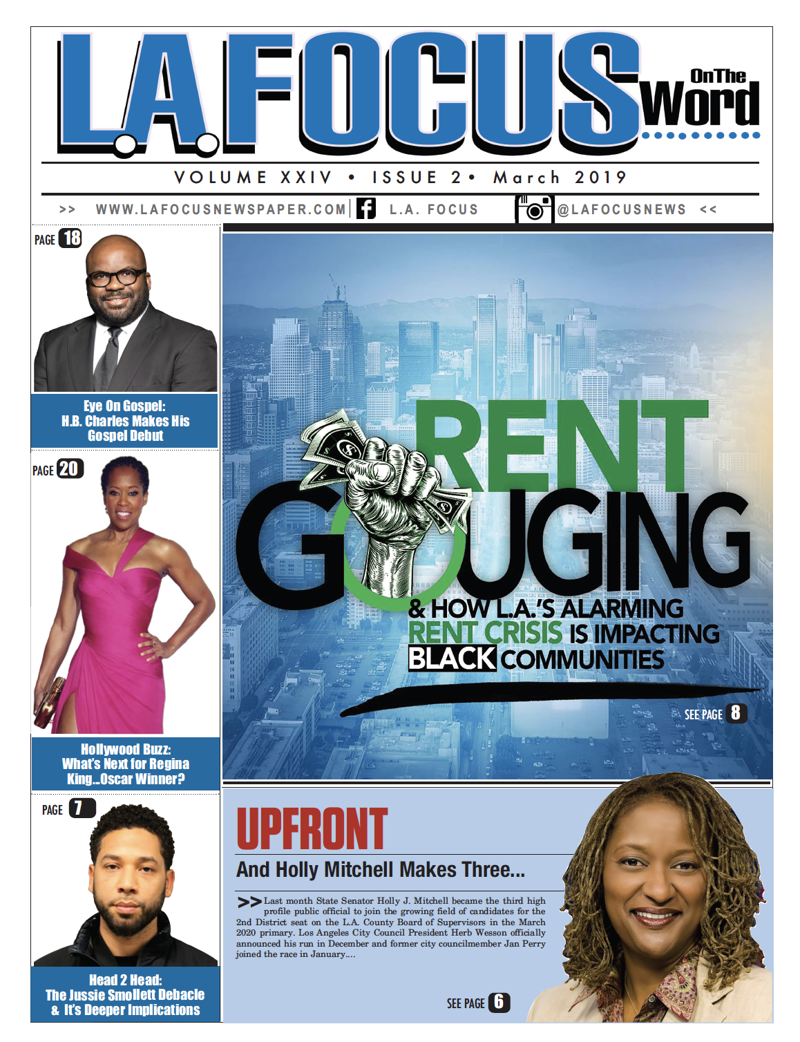 Center of Hope's PLAN4Hope quoted on pages 8-9 of the March Issue of L.A. Focus regarding the Inglewood housing situation. - Click the photo to read the publication.