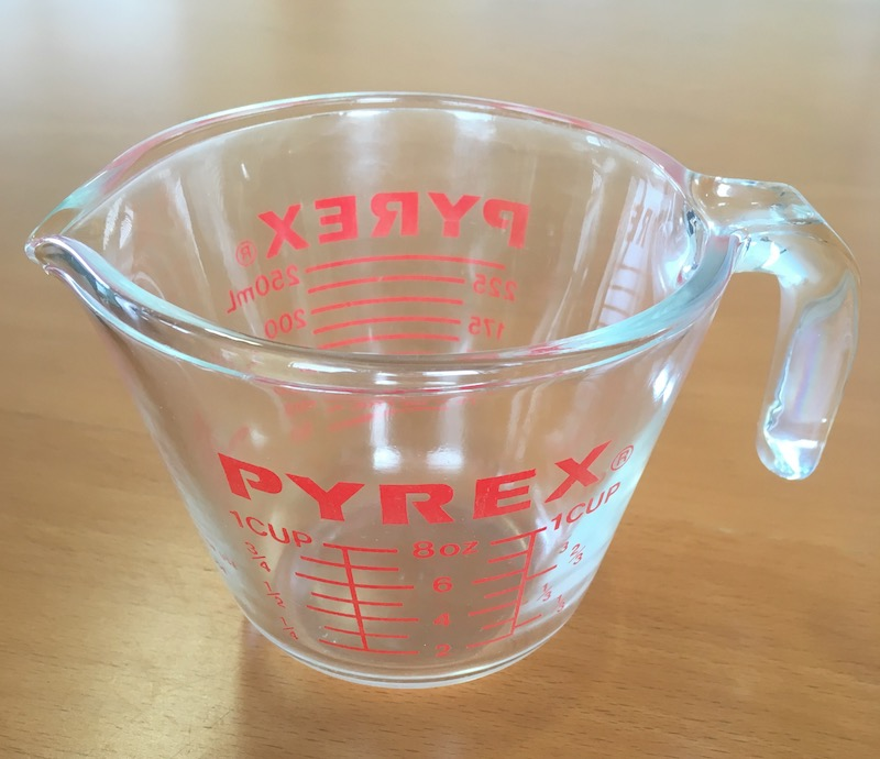 Tea and water go in, deliciousness comes out. I recommend pre-warming the measuring cup. Pyrex insulates nicely so you won't lose as much heat. If you're really picky, cover the top with a small saucer, too. The handle is a nice bonus!