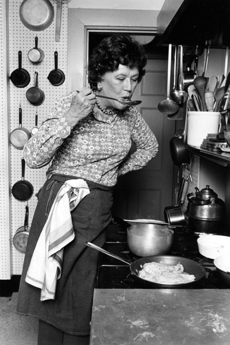 Julia in her Cambridge Kitchen, 1978 -- Photo by Lynn Gilbert  CC BY-SA 4.0