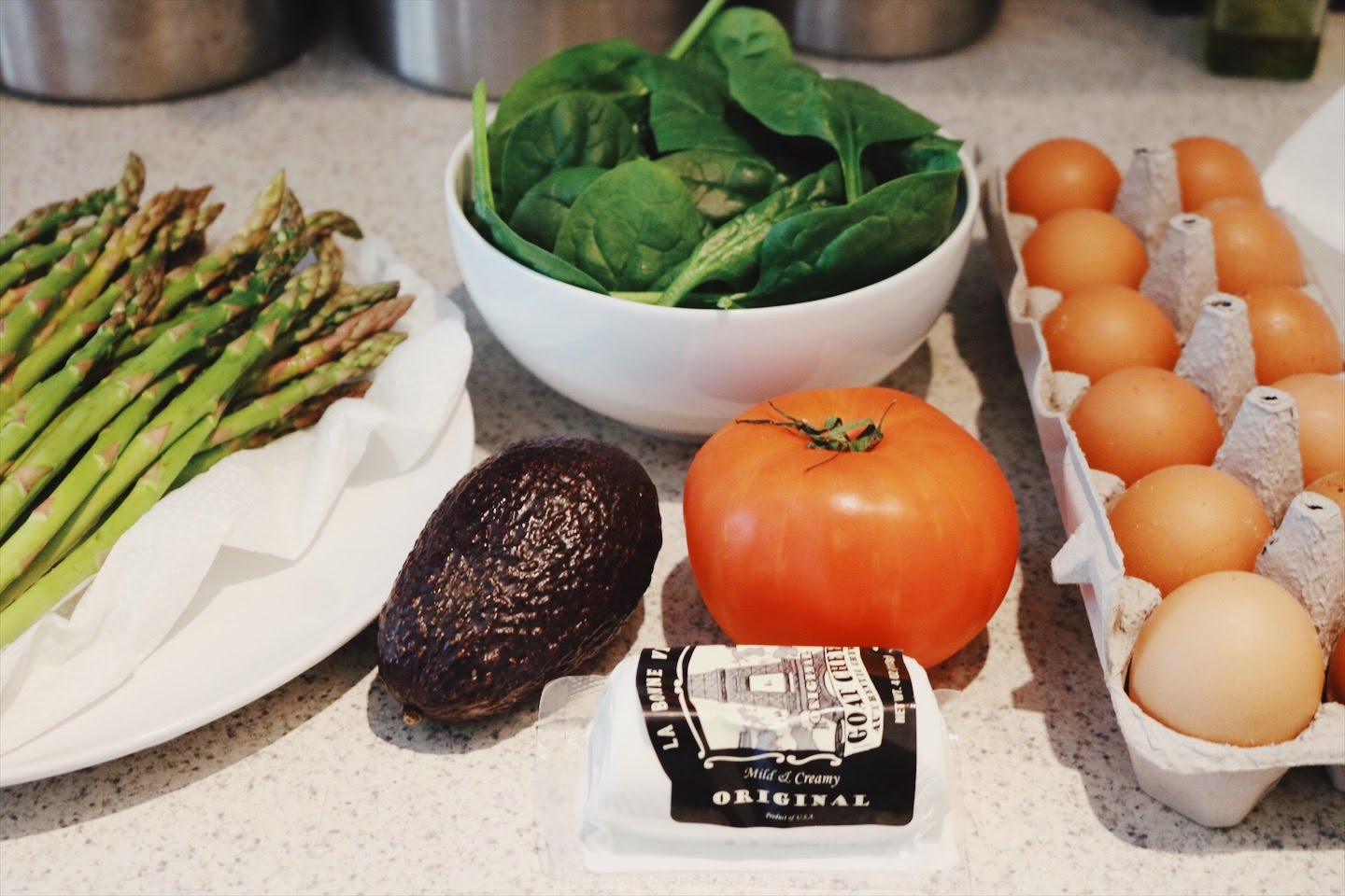 Beautiful ingredients make for a tasty meal!