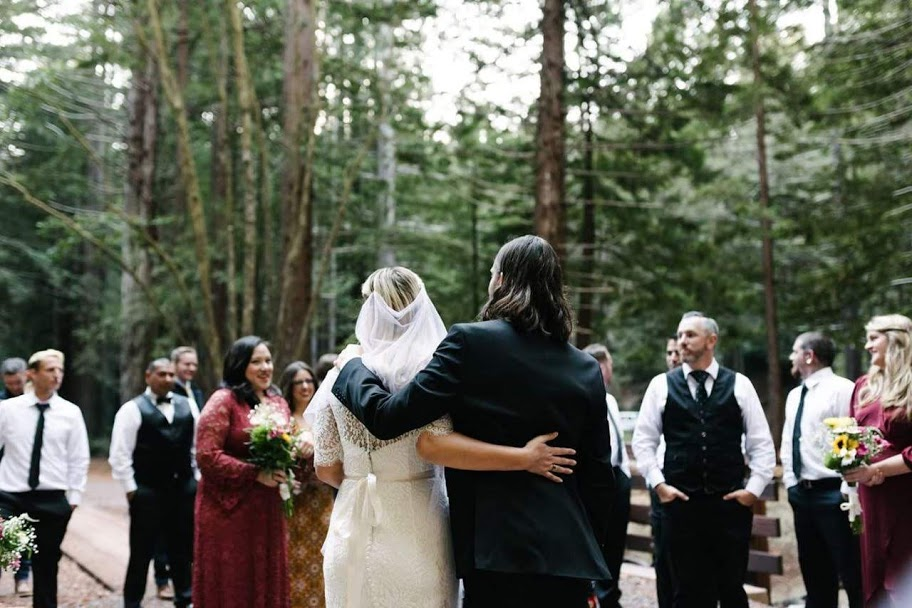 My dream… my husband, family, and friends in the magical redwoods. Nothing else really mattered! Photography:  Allison Andres
