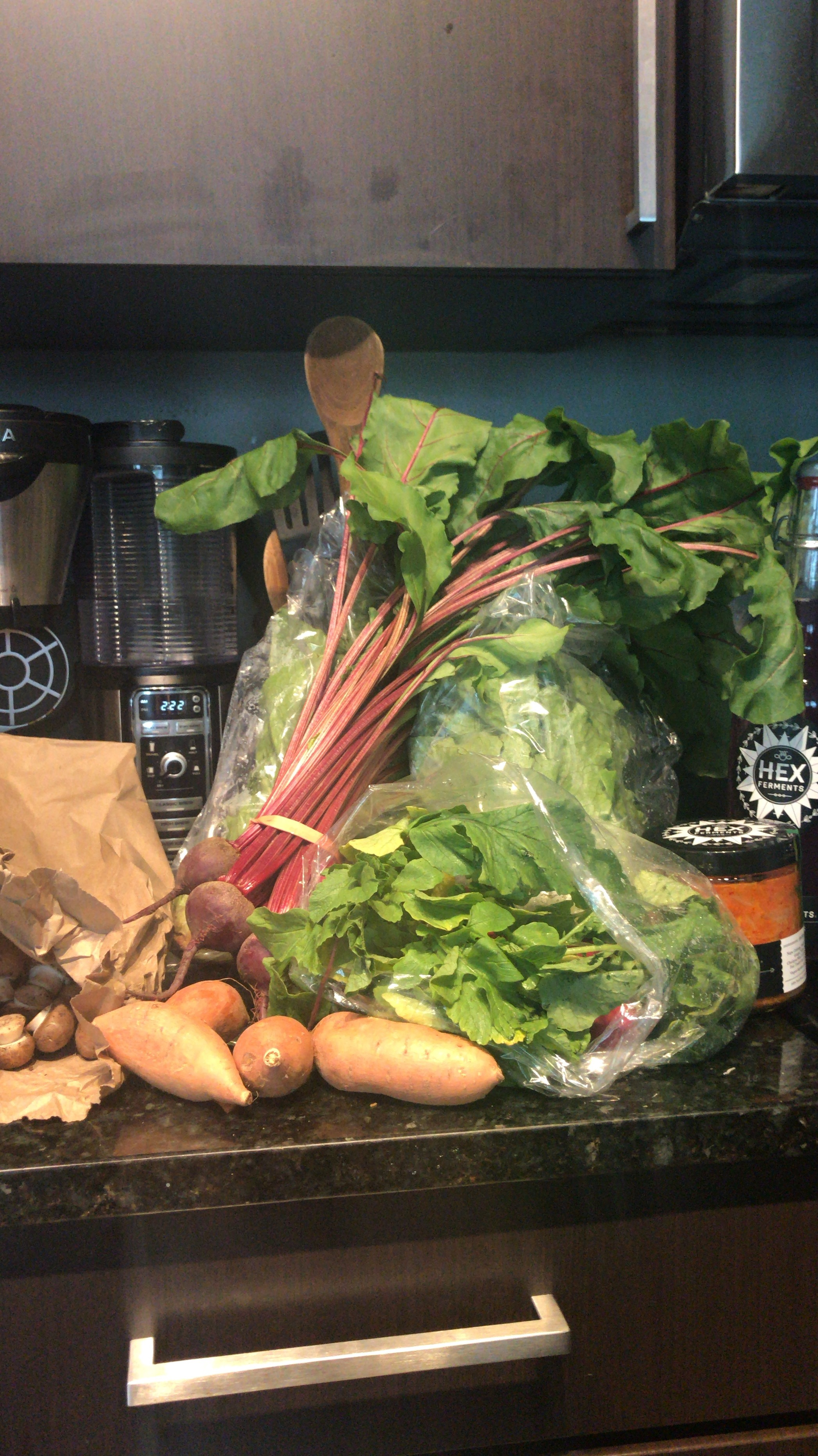 A recent farmers' market haul.