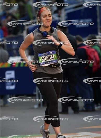 Ugly crying as I ran/hobbled over the finish line.