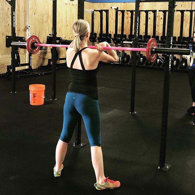 Postpartum is an opportunity to hone your skills when it comes to form and breathing/bracing. We can add weight or do body weight and still make a movement challenging.  The front squat is a perfect example of a movement that you can use to practice breathing and bracing under load. Having mid back mobility is crucial as well to keep those elbows up!  If you are looking for some help, our next Postpartum Series starts in August! Would love to see you there 💚! Link in bio for more details!  #grmi #grandrapids #grandrapidsmoms #postpartum #strongwomenbuildstrongfamilies #birthfit #fitness #nutrition #mindset #connection @crossfit616