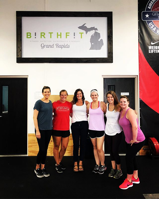 We wrapped up the Summer @BIRTHFIT Postpartum Series this week!  I'm always sad to think of not seeing these women every week. It's amazing what building a habit does to your brain! The routine of class twice a week becomes normal and then when it's done, I hope I have provided the tools needed to continue on!  My recommendation is for twice a week weightlifting, Functional Progressions and breath work 5-7 days a week, 3 days of yoga, running, walking, or whatever feels good to move your body, and 2 days of rest! Those days may include giving your muscles some love with a foam roller or lacrosse ball, an epsom salt bath, a gentle walk to simply some belly breathing!  The last Postpartum Series of 2019 is coming up in October! Would love to see you there to move and vibe with us so matter where you are in your postpartum journey! 💚  #grmi #grandrapids #birthfit #fitness #nutrition #mindset #connection #grmoms #westmichiganmoms #postpartum #womenwholift #diastasisrecti #pelvicfloor