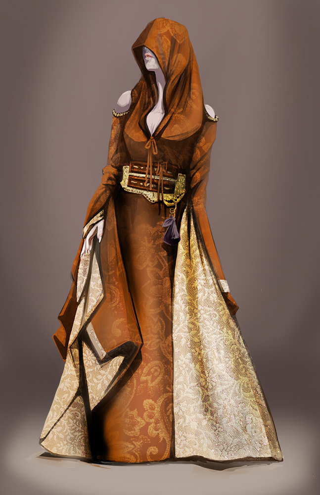Tullia Costume Design. Digital Paint.