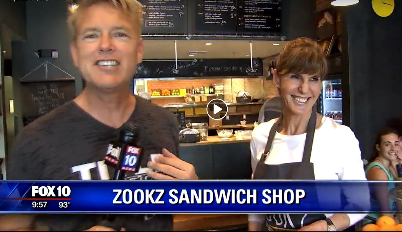 Fox 10 with Cory McCloskey Jun 21, 2017  Zookz - Funny Name, Fantastic Sandwich!