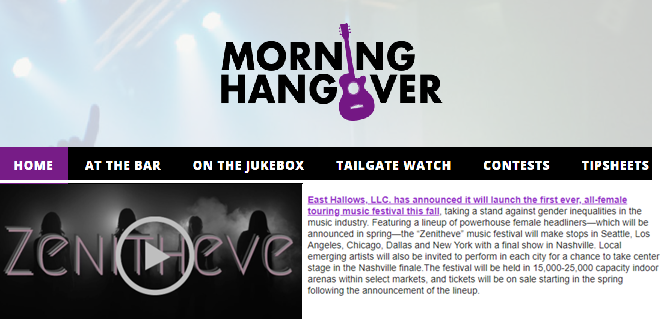 The Morning Hangover: East Hallows LLC Announces the Launch Of Zenitheve -