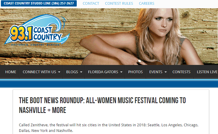 93.1 Coast Country:All-Women Music Festival Coming to Nashville + More  -
