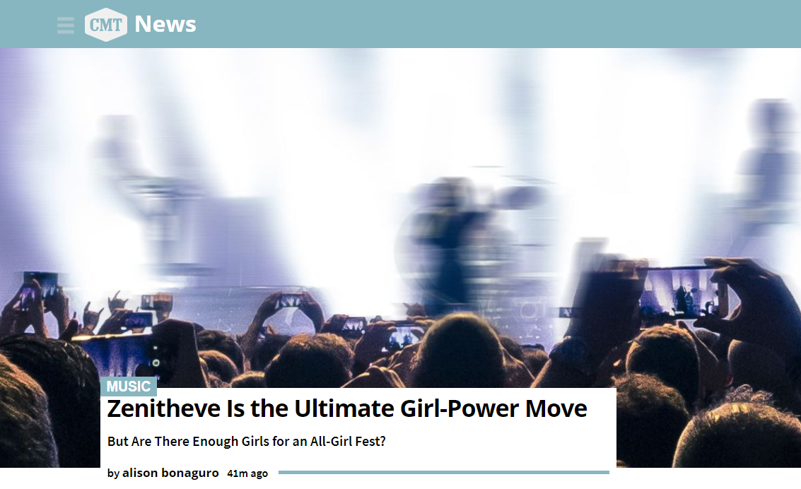 CMT News: Zenitheve is the Ultimate Girl-Power Move -