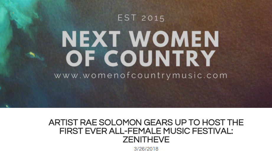 Next Women of Country: Artist Rae Solomon Gears Up To Host All-Female Music Festival  -