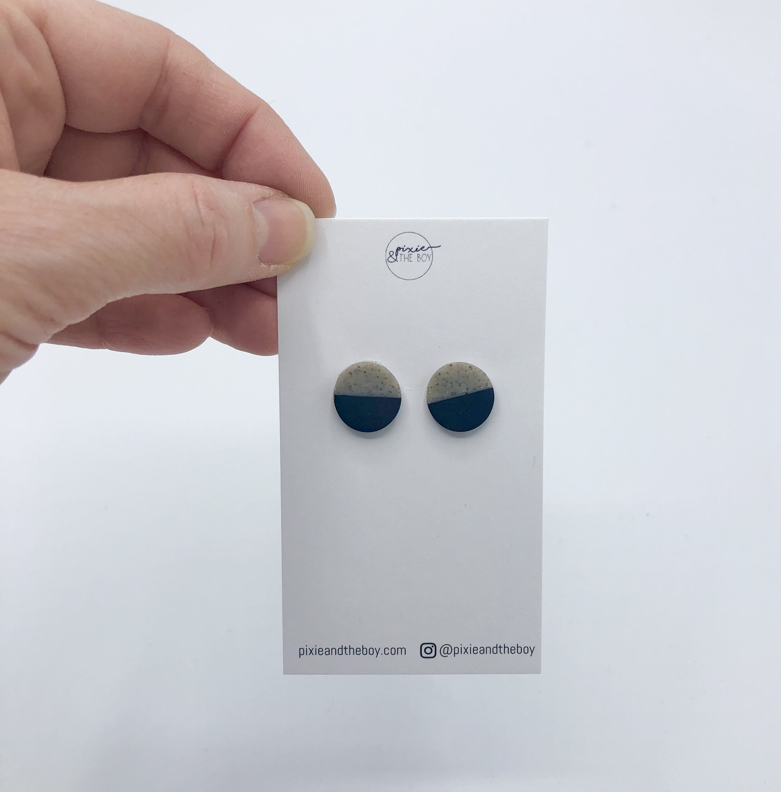 BOYwithLUVPolymer Clay EarringsModern EarringsKpopLightweightBeautifulMinimalistHandmadeChristmasBTS