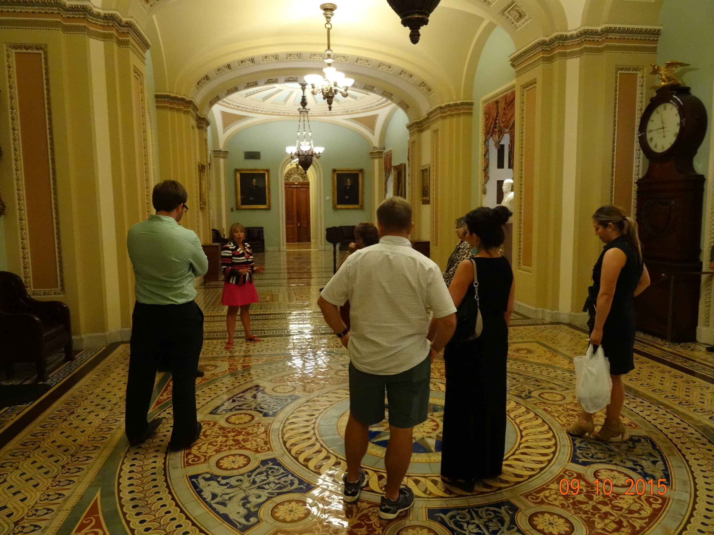Hallway in the US Capital building