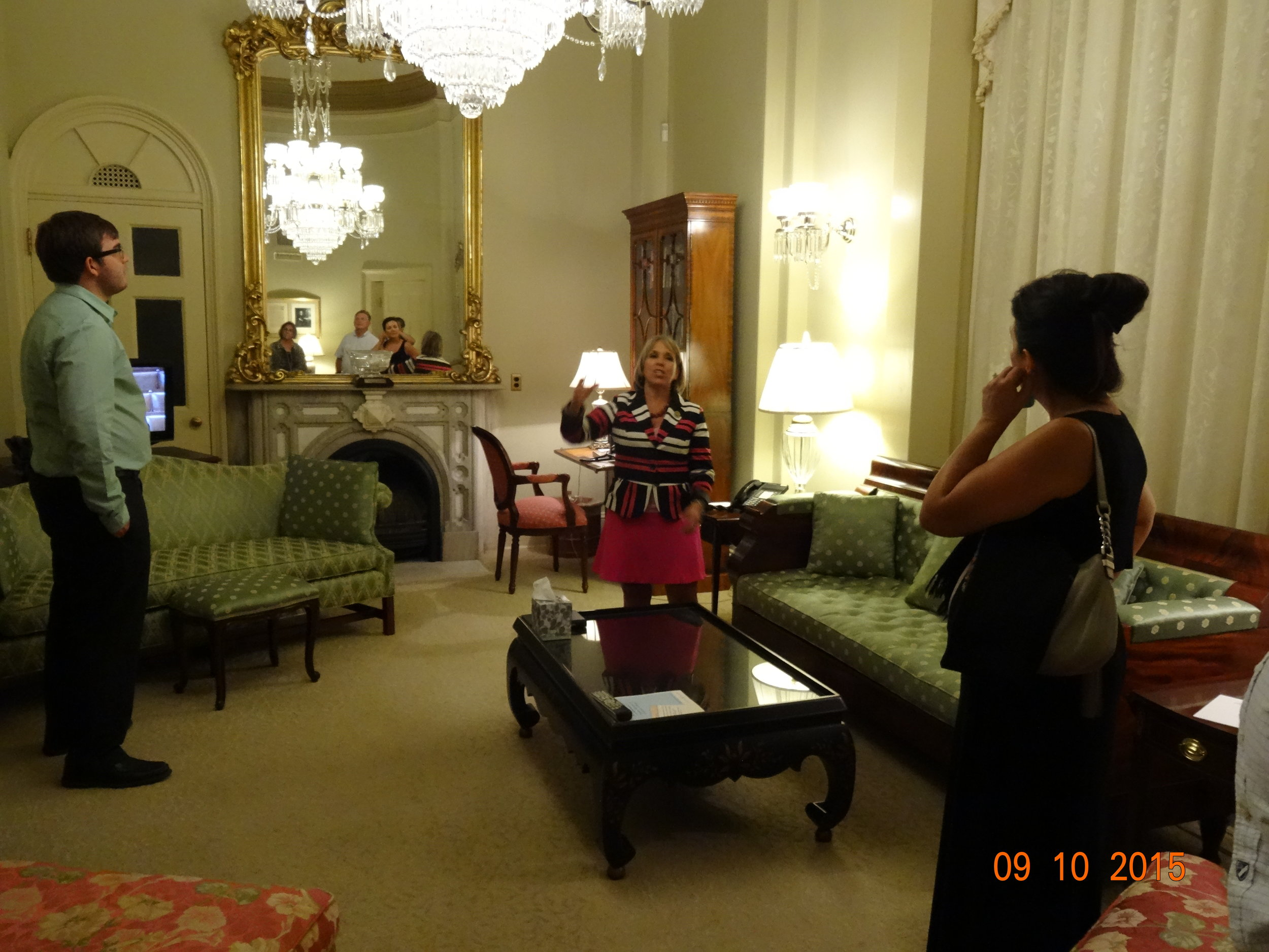 The room where John Quincy Adams passed away