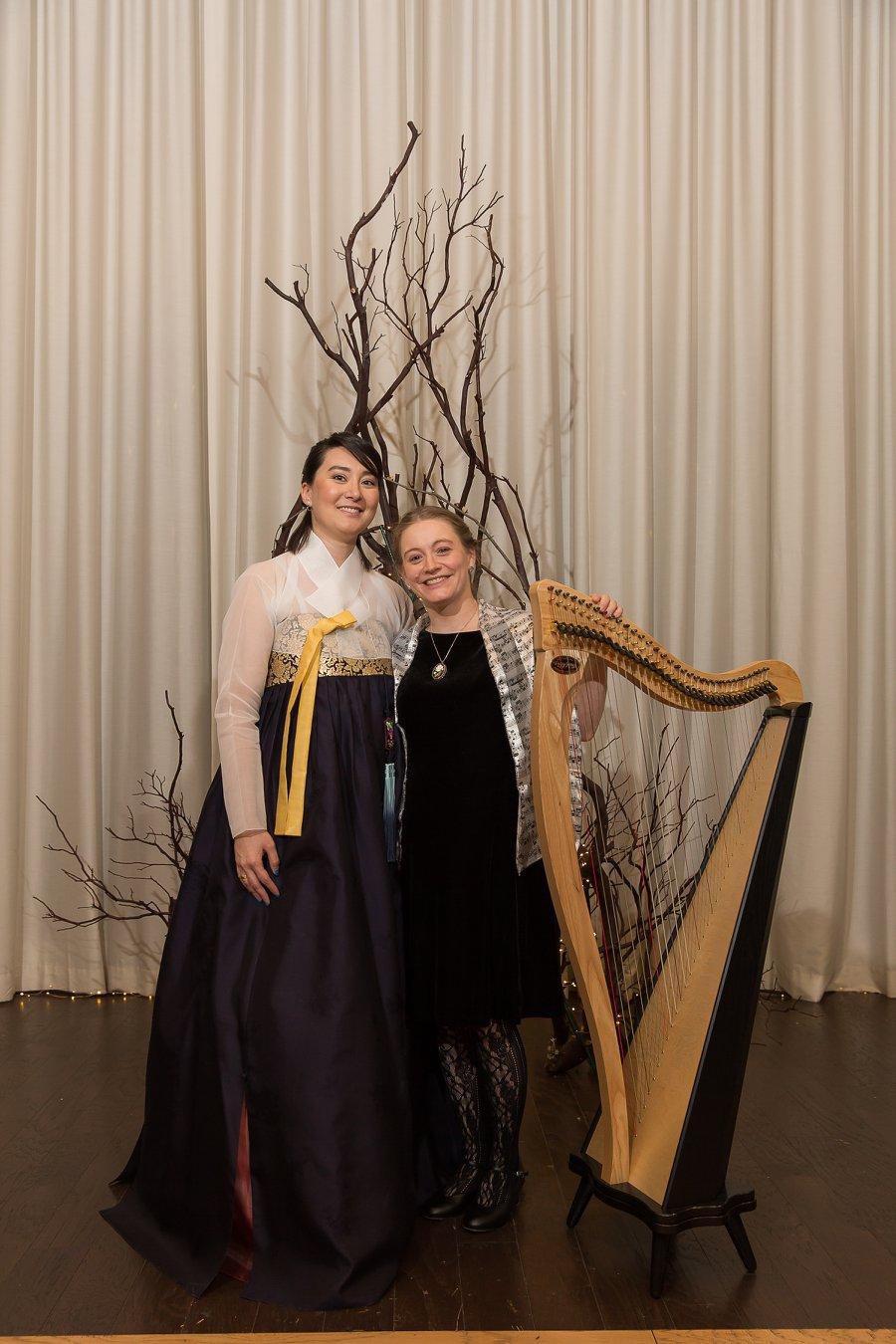 Hannah and Stephanie with Harp.jpg
